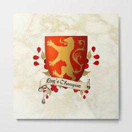 King's Champion - Lioness Shield Metal Print