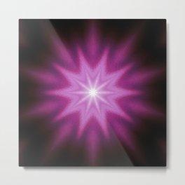 Starburst Purple Pink Burgundy Metal Print