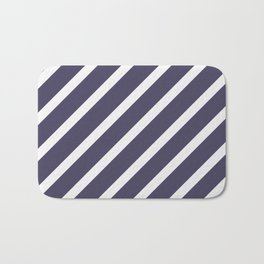 CLASSIC CROSS CURRANT Stripes Bath Mat