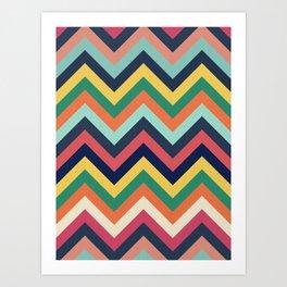 Chevron 24 Art Print