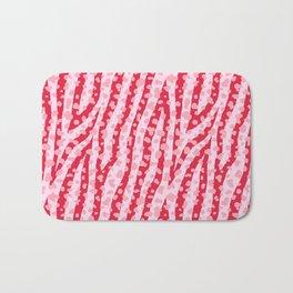 Fur mix texture - zebra 03 Bath Mat