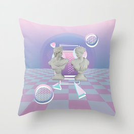 We're Busted Throw Pillow