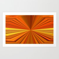 Abstract lines background 3d style Art Print