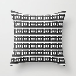 Blockblack Throw Pillow