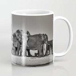Elephant Herd Circling IV Coffee Mug