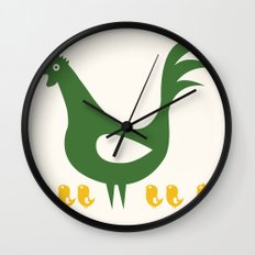 Papa Rooster Wall Clock