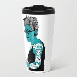 Tattoo Lady colour by Emilythepemily Travel Mug