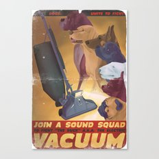 Sound Squad Anti-Vacuum P.S.A. Canvas Print