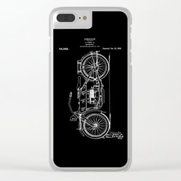 1919 Motorcycle Patent Black White Clear iPhone Case