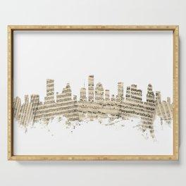Houston Texas Skyline Sheet Music Cityscape Serving Tray