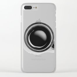 Cup of Coffee (Black and White) Clear iPhone Case