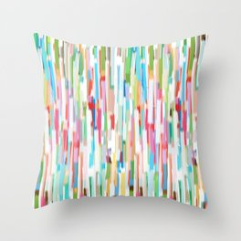 vertical brush strokes  Throw Pillow