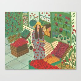 Local Green Grocery Canvas Print