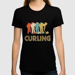 Curling Retro Pop Art Graphic T-shirt
