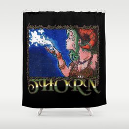 Thorn the Forest Fae Shower Curtain