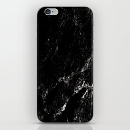 Black Marble #6 #decor #art #society6 iPhone Skin