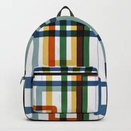 Abstract Lines - 5 Line Metro Map Backpack