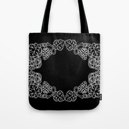 Abstract frame with bunches of grapes Tote Bag