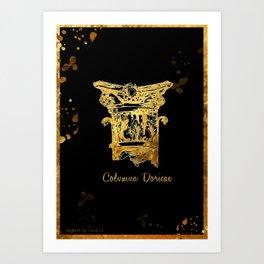 COLUMNA DORICAE  ART Art Print