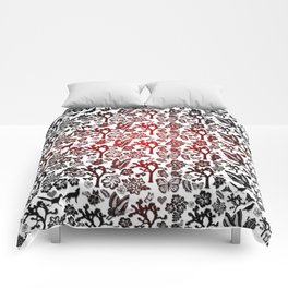 Joshua Tree Heart RED by CREYES Comforters