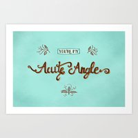 Acute Angle Art Print