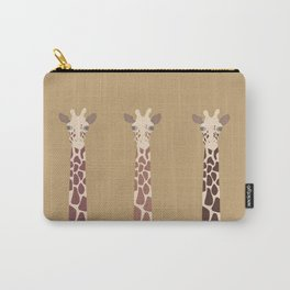 Triple Giraffes Carry-All Pouch