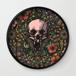 Skull in jungle Wall Clock