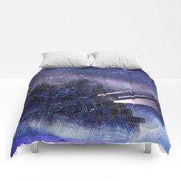 Snowy Night Train Comforters