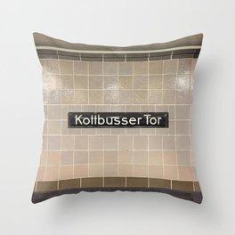 Berlin U-Bahn Memories - Kottbusser Tor U8 Throw Pillow