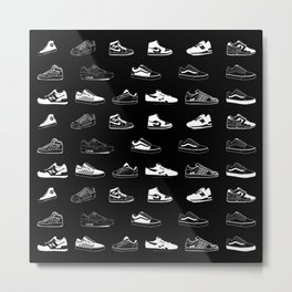 Black Sneaker Metal Print