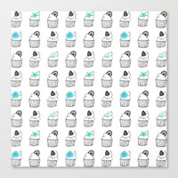 cupcakes Canvas Prints featuring Cupcakes by Anchobee