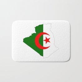 algeria flag map Bath Mat