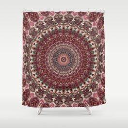 Mediterranean Boho Kaleidoscope Shower Curtain