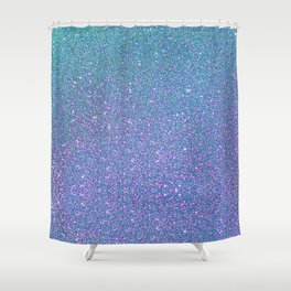 BLUE GLITTER Shower Curtain