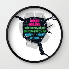 Roses are red and make me jolly I must be poly LGBTQ Gift Wall Clock