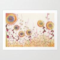 Sunflowered Art Print