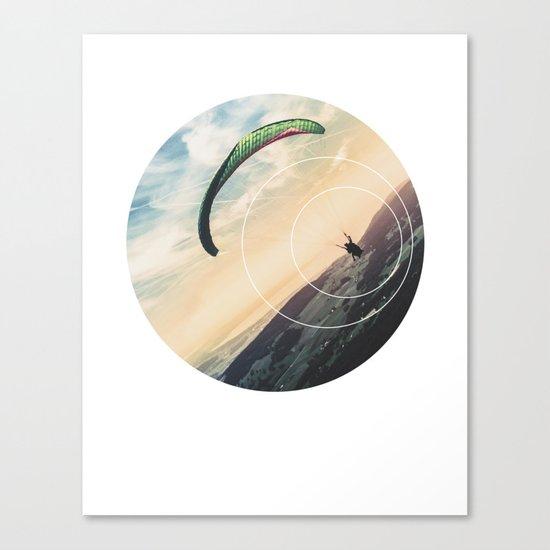 Skydive Gravity - Geometric Photography Canvas Print