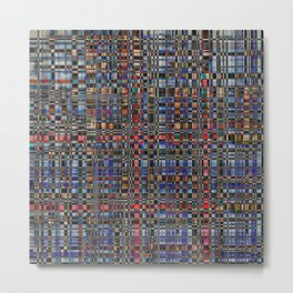 Multicolored pattern Metal Print