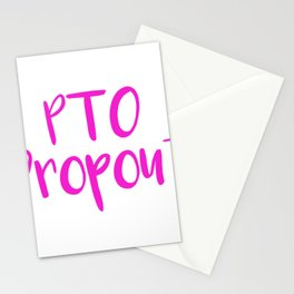 Mom PTO Dropout Parent Teacher Organzation Funny Gift Stationery Cards