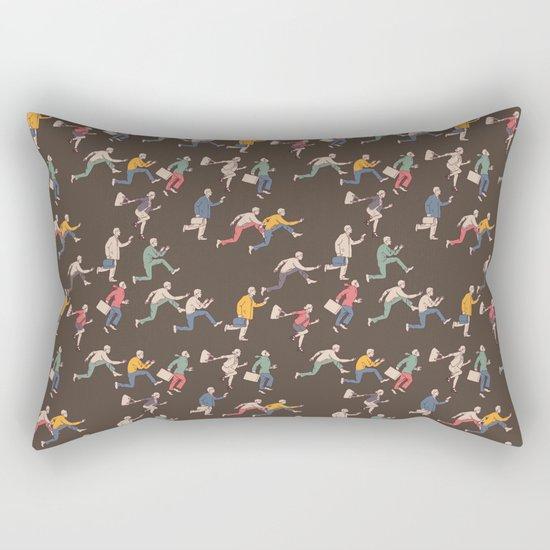 hurry up! Rectangular Pillow