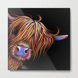 HiGHLaND CoW PRiNT SCoTTiSH ' SuGaR LuMP B ' BY SHiRLeY MacARTHuR Metal Print