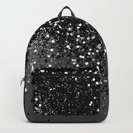Dark Gray Black Lady Glitter #1 #shiny #decor #art #society6 Backpack