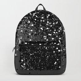 Dark Gray Black Lady Glitter #1 #shiny #decor #art #society6 Backpack