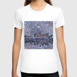 austin texas city skyline T-shirt