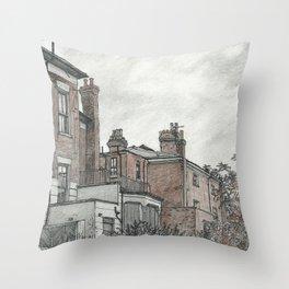 Backyard sketch Throw Pillow