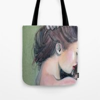 emerald Tote Bags featuring Emerald  by Madelyne Joan Templeton