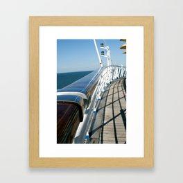 Ship Rail Framed Art Print