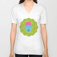 fresh prince V-neck T-shirts featuring Will - The fresh prince of Bel-Air by Kuki