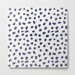 Handmade animal print blue shades Metal Print