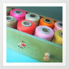 Sew Bright Art Print
